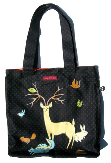 forest critters tote bag