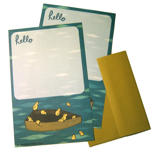 le boygirlparty shoppe: stationery details :  boat finch stationery set