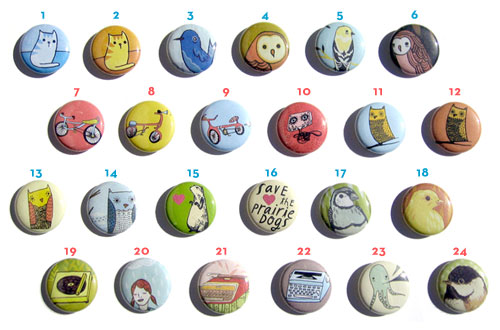 mix and match button magnets, from le boygirlparty shoppe