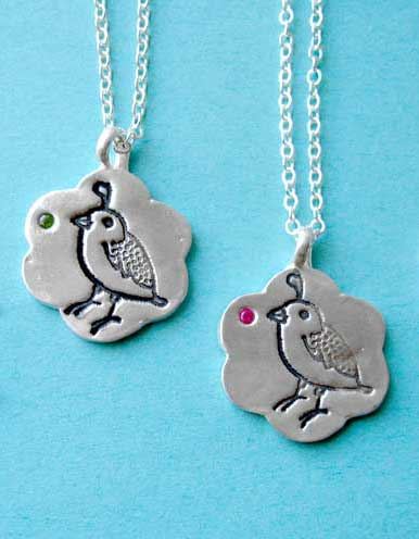 silver quail necklace :  necklace silver boygirlparty unique
